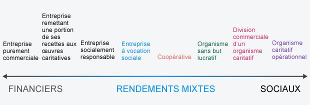 Graphique Types d'entreprises Entreprise à vocation sociale Vivre à coup de coeur